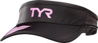 Кепка для триатлона TYR Running Visor / LRUNVIS 121 (черный/розовый) -