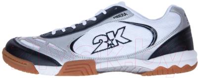 Кеды 2K Sport Ribera / 125415 (р-р 43, белый/серебристый/черный)