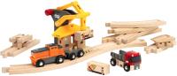 Железная дорога игрушечная Brio С рельсами, грузами и поездом / 33602 -