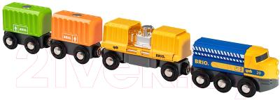 Поезд игрушечный Brio Товарный / 33982