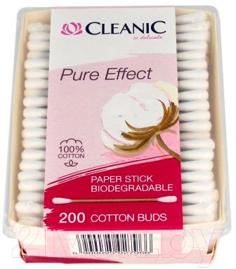 Ватные палочки Cleanic Pure Effect Bio (200шт)