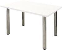 Обеденный стол Solt 120x80 (дуб молочный/ноги хром) -