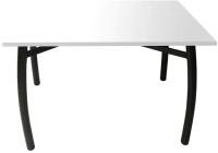 Обеденный стол Solt 110x70 (белый/ноги гнутые усиленные черные) -