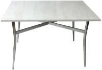 Обеденный стол Solt 100x60 (северное дерево светлое/ноги гнутые усиленные хром) -