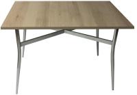 Обеденный стол Solt 100x60 (дуб/ноги гнутые усиленные хром) -