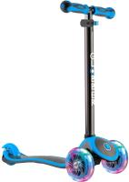 Самокат Globber Primo Plus Titanium / 442-130 (Neon Blue) -