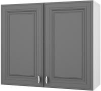 Шкаф навесной для кухни Горизонт Мебель Ева 80 (графит софт) -