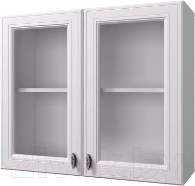 Шкаф навесной для кухни Горизонт Мебель Ева 80 с витриной