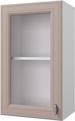 Шкаф навесной для кухни Горизонт Мебель Ева 40 с витриной