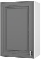 Шкаф навесной для кухни Горизонт Мебель Ева 45 (графит софт) -