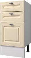 Шкаф-стол кухонный Горизонт Мебель Ева 40 3 ящика (тирамису софт) -