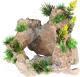 Декорация для аквариума Aqua Della Камень с растениями / 234/443446 (бежево-зеленый) -