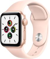 Умные часы Apple Watch SE GPS 44mm / MYDR2 (алюминий золото/розовый песок) -