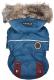 Куртка для животных Puppia Brock с капюшоном / PAUD-JM1851-TE-XXL (синий) -
