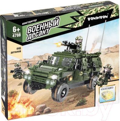 Конструктор Bondibon Военный Десант. Разведывательная машина / ВВ4798