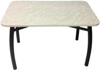 Обеденный стол Solt 120x80 (мрамор белый/ноги усиленные шелби-дуо черные) -