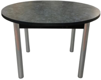 Обеденный стол Solt 110х100-38 (костило темный/ноги круглые хром) -