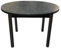 Обеденный стол Solt 110х100-38 (костило темный/ноги круглые черные) -