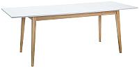 Обеденный стол Signal Cesar 160 (белый/дуб) -