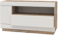 Тумба Мебель-КМК Роксет 1Д1Я 0554.1 (дуб юккон/белый глянец) -