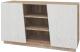 Тумба Мебель-КМК Лайт 2Д 0551.5 (дуб юккон/дуб полярный) -