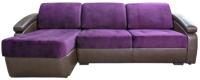 Диван угловой Lama мебель Денвер-2П (Goya Viola (LE)/Teos Dark Brown) -