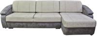 Диван угловой Lama мебель Денвер-2П (Medly Ash/Split Grey) -