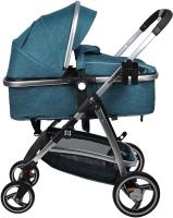 Детская универсальная коляска Farfello Pristina (голубой) -