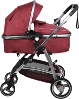 Детская универсальная коляска Farfello Pristina (рубиновый) -