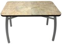 Обеденный стол Solt 110x70 (мрамор золото/ноги усиленные шелби-дуо серые) -