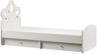 Односпальная кровать Mobi Алиса 11.24 (белый/ясень ваниль НМ-1012-100 ПВХ) -