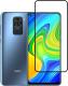 Защитное стекло для телефона Case Full Glue для Redmi Note 9 (черный глянец) -