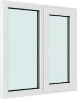 Окно ПВХ Brusbox Elementis Kale Поворотно-откидное с импостом правое 3 стекла (70x1200x1400) -
