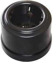 Розетка Bironi B1-101-23 (черный) -