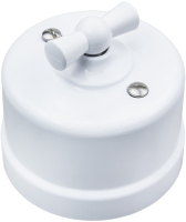 Выключатель Bironi B1-201-21 (белый) -