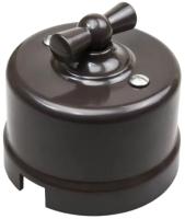 Выключатель Bironi B1-203-22 (коричневый) -