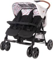 Детская прогулочная коляска Lorelli Twin Grey Black Cross / 10020072087 -