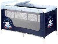 Кровать-манеж Lorelli San Remo 2 Blue Bear (10080522072) -