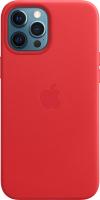 Чехол-накладка Apple Leather Case With MagSafe для iPhone 12 ProMax Product Red/MHKJ3 -