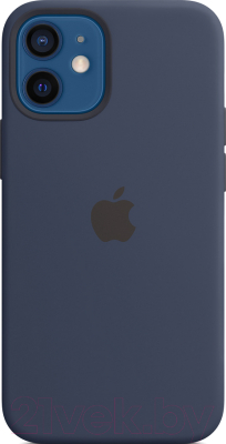 Чехол-накладка Apple Silicone Case with MagSafe для iPhone 12 Mini Deep Navy / MHKU3