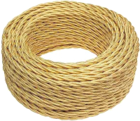 Провод силовой Bironi B1-425-079-50 (10м, золото глянец) -