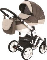 Детская универсальная коляска Adamex Avanti 2 в 1 (X22/коричневый/молочный) -
