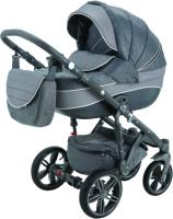 Детская универсальная коляска Adamex Avanti 2 в 1 (X6/темно-серый/серое плетение) -