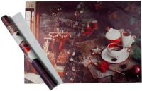 Набор пленки для оформления подарков Vista У камина 90мкм (50х70, 2 листа) -