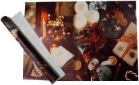 Набор пленки для оформления подарков Vista Новый год 90мкм (50х70, 2 листа) -