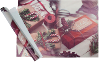 Набор пленки для оформления подарков Vista Рождественские подарки 90мкм (50х70, 2 листа) -