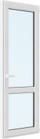 Дверь балконная Brusbox Roto Поворотно-откидная внизу стекло правая 3 стекла (700x2100x70) -