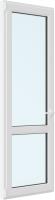 Дверь балконная Brusbox Roto Поворотно-откидная внизу стекло левая 3 стекла (700x2100x70) -