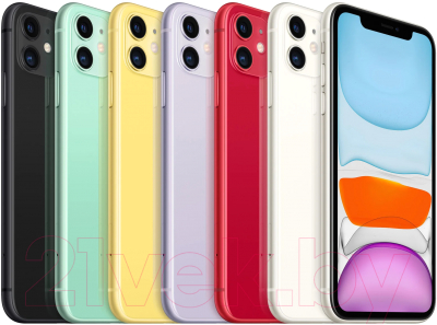 Смартфон Apple iPhone 11 64GB / MHDF3 (фиолетовый)