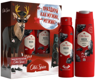 Набор косметики для тела Old Spice STR Rock дезодорант-спрей + гель для душа -